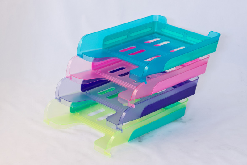 Bi-colored Office Document Tray