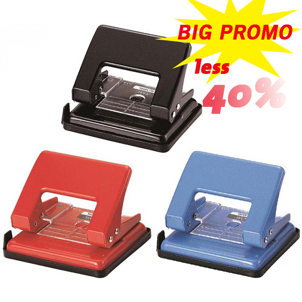 Carl 100xl Desktop Paper Hole Punch With Safety Lock 2