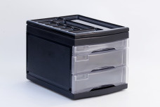 Clear Black 3 -Layered Storage