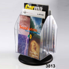 Six Pockets Desktop Revolving Brochure Stand