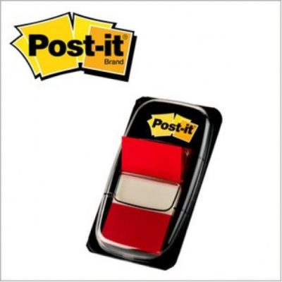 "Post-it® Flags, Red Colour, 1"" X 1.75"", 50 sheets"
