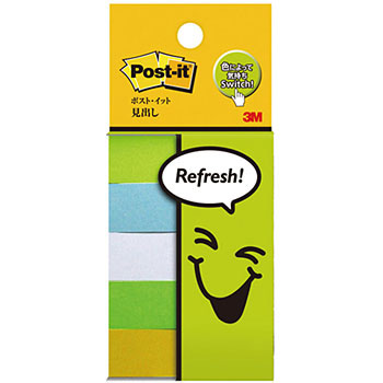 Post-it® Pagemarkers, Refresh Colours, 14 X 75mm, 5 pads / pack